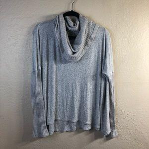 Anthropologie Bordeaux cowl neck sweater